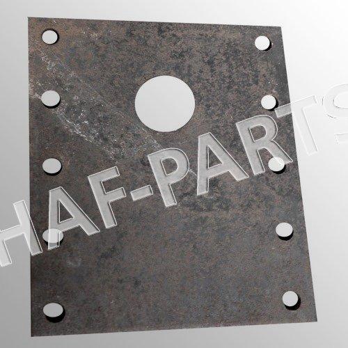 M20; Gegenplatte für Zugöse; 200x200x30; LA 160x160mm Durchmesser